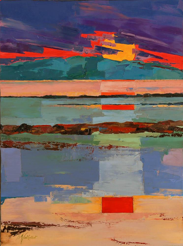 n°126 Coucher de soleil 2 (73x54) - Collection Particulière