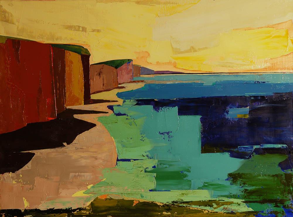 n°125 Grande falaise (81x60) - Collection particulière