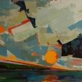n°102 Coucher de soleil 1 orage (73x60) - Collection Particulière