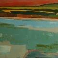 n°124 Rive ciel rouge (65x50)