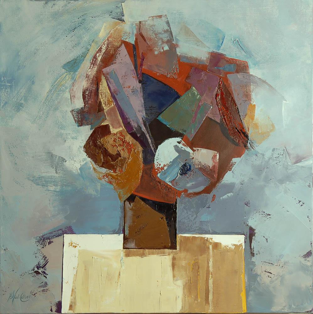 n°128 Bouquet carré  (80x80) - Collection Particulière