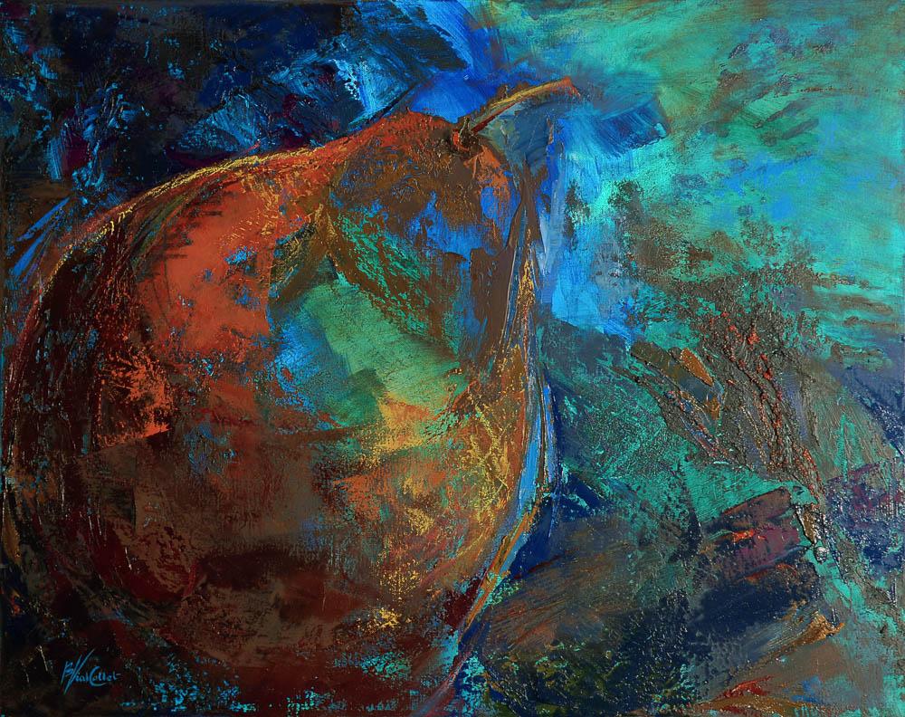 n°129 Poire bleue (92x73) - Collection Particulière