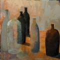 n°206 Bouteilles au carré (90x90) - Collection Particulière
