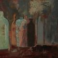 n°205 Bouteilles dans l'ombre (116x81) - Collection Particulière