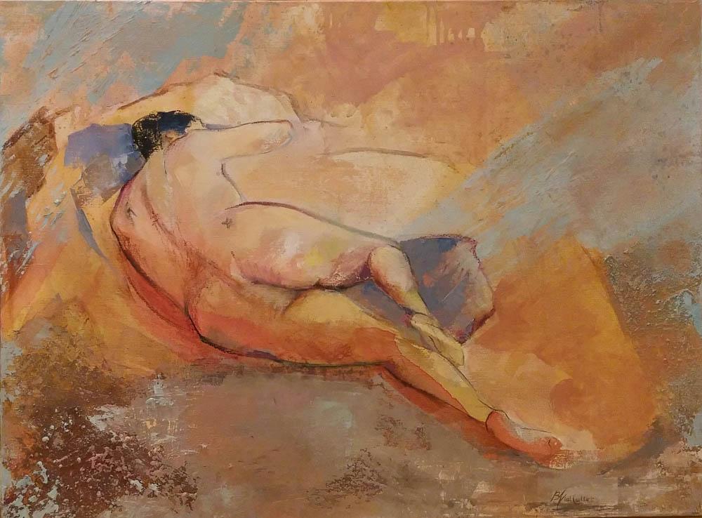n°207 Nu endormi (81x60) Collection Particulière