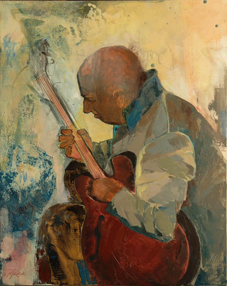 n°134 Guitariste (81x65) - Collection particulière