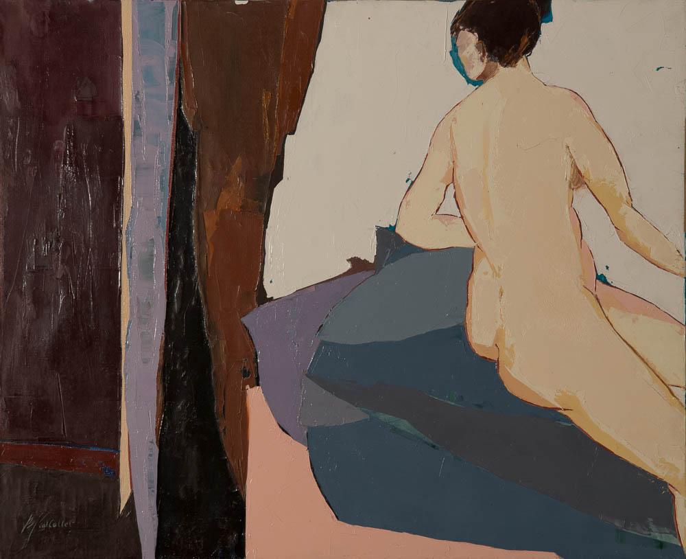 n°17 Nu au rideau noir (73x60)