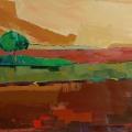 L'arbre, les champs (81x54)
