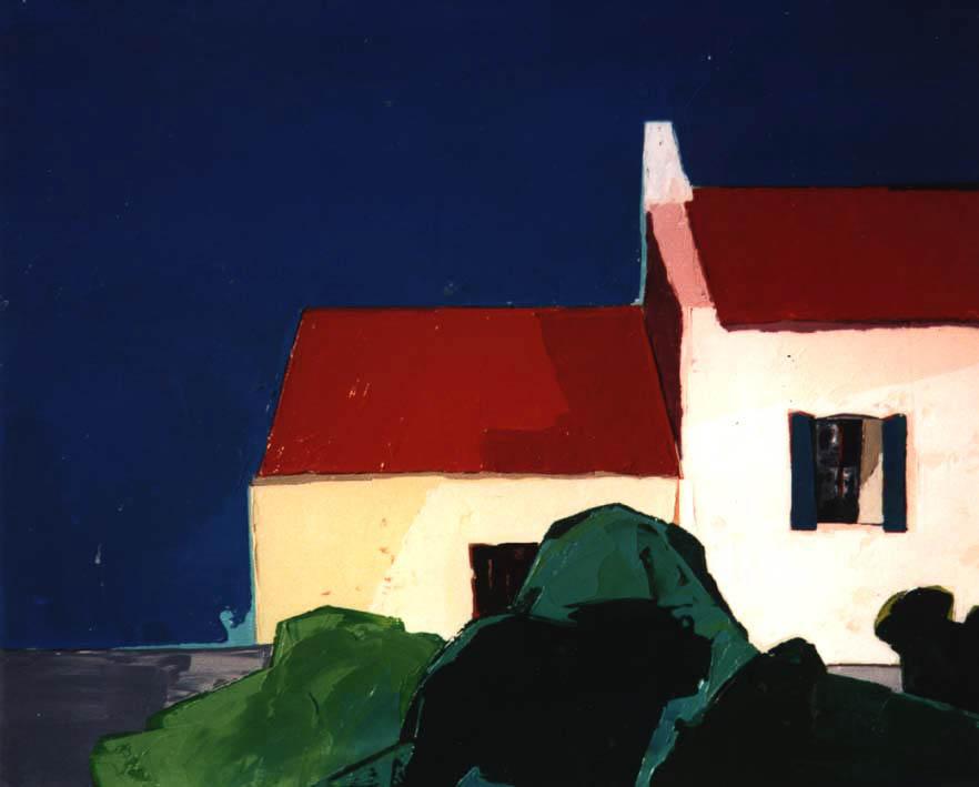 Deux maisons Belle Ile (46x38) - Collection Particulière