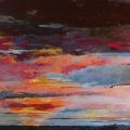 n°218 Ciel flamboyant (130x97) - Collection particulière