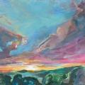 n°219 Coucher de soleil en Provence (130 x 97) - Collection particulière
